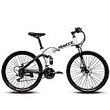 26' Mountainbike Hardtail Fahrräder Herren Mountainbike High-Carbon Stahl 21/24/27 Geschwindigkeit Mechanische Doppelscheibenbremse...
