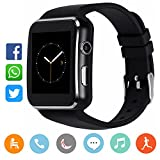 CanMixs Bluetooth Smart Watch mit Kamera, CM03 Touchscreen Smart Armbanduhr mit SIM-Kartensteckplatz, entsperrt wasserdicht Fitness Activity Tracker Sportuhr...