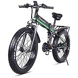 Shengmilo Mountainbike 26 Zoll 1000 Watt 48 V 13ah Klapp Elektrisches Schneemobil Shimano 21 Geschwindigkeit Elektrische Hilfshydraulische Scheibenbremsen...