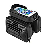 Fahrrad Rahmentasche 2L Radfahren Rahmen Pannier Handytasche Wasserdichte Doppeltasche Bike Front Oberrohr Touchscreen Satteltasche Rack Mountain Road...
