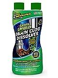 Green Gobbler Dissolve Abflussreiniger - Flüssiger Rohrreiniger Zur Haar- Und Schmutzentfernung In Abflüssen - Effektive Reinigungsformel Wirkt Innerhalb...