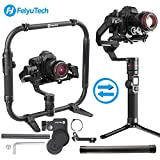 FeiyuTech AK4000 3-Achse Gimbal Stabilisator Nutzlast 4 Kg Compatible with Mirrorless & DSLR Kamera Sony Canon Panasonic Nikon Double-Hand Faltbare Set + AKFI I...