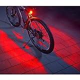FISCHER Twin Fahrrad-Rücklicht mit 360° Bodenleuchte für mehr Sichtbarkeit und Schutz, aufladbarer Akku