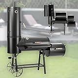Profi Smoker Grillwagen Holzkohle Stahl BBQ Grill 130 kg Smoker