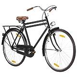 Tidyard 28 Zoll Hollandrad Herren City Fahrrad Herrenrad Cityrad Herrenfahrrad Cityfahrrad Hollandrad Hollandfahrrad Citybike Matt-Schwarz