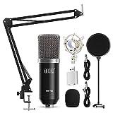 TONOR XLR zu 3,5 mm Kondensator Mikrofon Kit Schall Podcast Studio Rundfunk & Aufnahme Microphone für Computer mit Popschutz und Verstellbarem Mikrofonhalter...