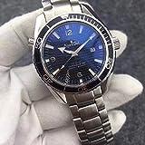 SILZDQP Luxury Brand Herren Automatik Mechanik Taucheruhr Blau Professionelle Edelstahl Saphir Leder Uhren Silber Schwarz