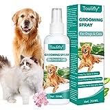 Toulifly Entwirrungsspray, Pflegespray für Hunde & Katzen, Kämmhilfe Zerstäuber, Fellspray, Fellpflege Spray für glänzendes Fell, Entfilzungsspray,...