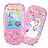 """Bluetooth MP3 Player Kinder, AGPTEK Einhorn Video Player 2,4"""" Bildschirm, Musik Player mit Lautsprecher, Kopfhörer, Wiegenlied, UKW-Radio, Schlaftimer und..."""