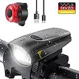 LIFEBEE LED Fahrradlicht, StVZO Zugelassen USB Wiederaufladbare Fahrradbeleuchtung Fahrradlicht Vorne Rücklicht Set, Wasserdicht Fahrradlichter Set Fahrrad...