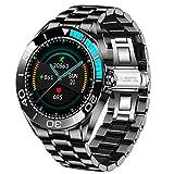LIGE Herren Smart Watch, IP67 wasserdichte Fitness Tracker Uhren mit Herzfrequenz Blutsauerstoff Blutdruck Überwachun Voll Touchscreen Smartwatch Edelstahlband...