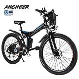 ANCHEER Elektrofahrrad Faltbares Mountainbike, 36V 8Ah Lithium-Batterie 26 Reifen Elektrisches Fahrrad Ebike mit 250W bürstenlosem Motor und Professionell...