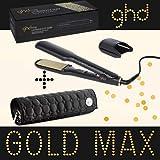 Ghd - Glätteisen Styler Max Gold, breite Keramikplatte, inkl. rundem Ghd-Etui