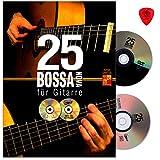 25 Bossa Nova für Gitarre - 25 vollständige Begleitungen im Stil von Bossa Nova-Legenden, wie Gilberto Gil, Stan Getz, Joao Gilberto - Lehrbuch von Adrian...