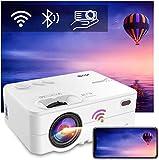 """Mini Beamer WLAN Bluetooth - Artlii Enjoy2 6000 Lumen Wireless LED Beamer 300"""" Unterstützt 1080p Full HD Mini Projektor, Kompatibel mit PS4, X-Box, TV Stick..."""