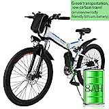 Elektrofahrräder 36V 8AH Lithium Batterie Faltrad MTB Mountainbike E-Bike 17 * 26 Zoll Shimano 21 Speed Fahrrad Intelligence Elektrofahrrad (26 Zoll_4)