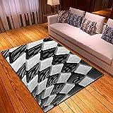 ZZSDG Moderner Teppich für Wohnzimmer 3D-Muster Schlafzimmer Große Teppiche Home Kinderzimmer Teppich Flur Boden Nachttische | Teppich,OS4,150cmx200cm