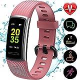 [Aktualisierte 2020 Version] Fitness Armband mit Pulsmesser,IP68 Wasserdicht Smartwatch Aktivitätstracker Sportuhr,Fitness Tracker Pulsuhr Schrittzähler Uhr...