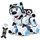 COSTWAY RC Interaktiv Roboter Hund mit Musik-, Tanz-, Blink- und Schießfunktion, Ferngesteuerter Hund Roboter, Roboterhund intelligent, Hundespielzeug...