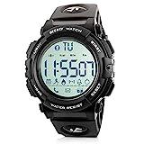 Beeasy Herren Digital Sportuhr,wasserdichte Armbanduhr Uhr Männer Militär Outdoor Herrenuhr Watches for Men Fitness Tracker mit Kalorienzähler Schrittzähler...