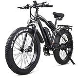 Shengmilo e Bike Elektrofahrrad 26 Zoll e-Bike Mountainbike Electric Fahrrad ebike Herren Damen 4.0 Zoll Fetter Reifen 1000W Moto 48V Batterie 21 Gang Doppelte...