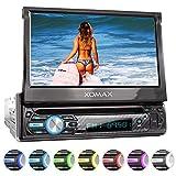 XOMAX XM-D750 Autoradio mit 18 cm / 7' Touchscreen I DVD, CD, USB, AUX I RDS I Bluetooth I Anschlüsse für Rückfahrkamera, Lenkradfernbedienung und Subwoofer...
