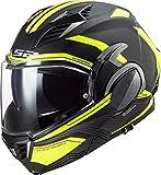 LS2 Unisex Valiant II REVO Motorrad Helm, Schwarz/Gelb, XXL