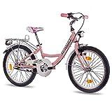 CHRISSON 20 Zoll Kinderfahrrad Mädchen - Relaxia 3.0 rosa - Mädchenfahrrad mit 3 Gang Shimano Nexus Nabenschaltung - Fahrrad für Kinder zwischen 5-9 Jahre...
