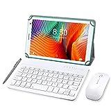Tablet mit Touchscreen 8 Zoll, Android 10.0 Quad Core, 3 GB RAM + 32 GB ROM, Tablet mit Tastatur, Google GSM, Netflix, WLAN, Bluetooth, Grün