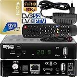 hd-line Tivusat Satelliten SAT Receiver - Digitaler IPTV Box und Karte (HDTV, WiFi, DVB-S/S2, HDMI, AV, 2X USB 2.0, 4K) (Vorprogrammiert für Astra Hotbird und...