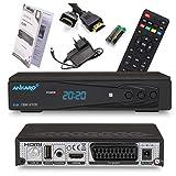 Ankaro 2100 DSR Sat Receiver - HD Satelliten Receiver mit USB-Mediaplayer Funktion - DVB-S/S2 Receiver für Satellit - Astra & Hotbird vorinstalliert + Anadol...
