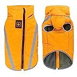 Idepet Wasserdichte Hundemantel Winter warme Jacke, Outdoor-Sport Hund Kleidung Outfit Weste für kleine, mittelgroße Hunde mit Geschirr Loch