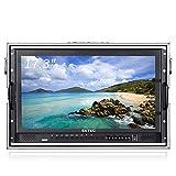 LFTS Filmmaker Kamera Feldmonitor Broadcast 17'Ultra HD 1920x1080 LCD IPS-Bildschirm 16: 9 Aluminium-Handgepäck mit SDI HDMI YPbPr AV für...