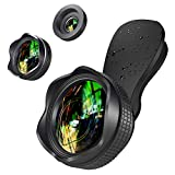 Handy Objektiv Set Phone Lens - 2 in 1 Clip On Handy Kamera Adapter (0.6X Weitwinkelobjektiv, 15X Makroobjektiv) for iPhone Samsung Galaxy HTC LG Sony IOS &...