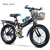 Mountainbike Folding Kinderfahrräder, 7-8-10-12-15 Jahre alt, Mittelschulkind, Grundschüler, Mountainbikes, Jungen, Fahrräder Herren Trekking Bike (Größe :...