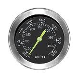 UPPOD Thermometer grillzubehör Thermostat Grill Thermometer für Smoker mit Rosette, Grillen, Backen, Ofen und Räucherofen S304 Edelstahl (Bis zu 400 °C) ......