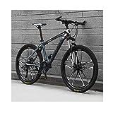 Mountainbike 26-Zoll-21-Gang-Fahrrad Für Erwachsene, Outdoor-Fahrräder Für Studenten, Hardtail-Fahrrad Mit Doppelscheibenbremse, Verstellbarer Sitz, MTB...