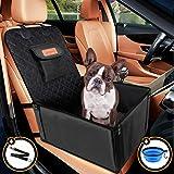 Looxmeer Hunde Autositz für Kleine Mittlere Hunde Vordersitz & Rückbank, Hundesitz Auto mit Sicherheitsgurt, Faltbare Hundedecke Autositzbezug Beifahrsitz...