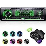 CENXINY Autoradio mit Bluetooth Freisprecheinrichtung, 7 Farben Licht Einstellbar 1 Din Autoradio Bluetooth mit USB*2/AUX/TF, MP3 Player/FM Autoradio Radio mit...