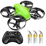 Potensic Mini Drohne für Kinder und Anfänger mit 3 Akkus, RC Quadrocopter, Mini Drone mit Höhenhaltemodus, Start / Landung mit einem Knopfdruck, Kopflos...