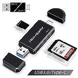 TRAYBRAY USB 3.0 kartenlesegerät, SD/Micro SD kartenleser, 2-in-1 USB Typ C, SD/TF Speicherkartenleser, mit Micro OTG USB 3.0 Adapter für PC, Mac, Windows,...