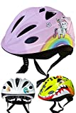SkullCap Fahrradhelm für Kinder von Kindern gestaltet von Profis gebaut, Größe S, Motiv Einhorn