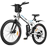 BIKFUN E-Bike 26 Zoll Elektrofahrrad Herren Damen E-Mountainbike Ebike Pedelec E-Klapprad mit Doppelstoßdämpfer, 36V/8Ah Abnehmbarer Akku, 250W Motor, Shimano...