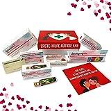 Hochzeitsgeschenk   Erste Hilfe Set für die Ehe, witziger Sanikasten   9-teilig   Geschenk-Box zur Hochzeit / Valentinstag