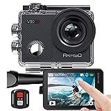 AKASO Action cam/Unterwasserkamera 4K WiFi 40M EIS Anti-Shake Action Kamera 4X Zoom mit Touchscreen, Fernbedienung, Sportkamera wasserdicht...