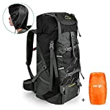 outlife Wanderrucksack 60L Trekkingrucksack Extra Large Leichter Trekking Camping Reiserucksack, reiß- und Wasserabweisender Rucksack mit Belüftungssystem...
