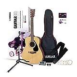 YAMAHA GuitarGo - Starter Set – Akustikgitarren-Set für Anfänger und Wiedereinsteiger – Inklusive Saiten, Plektren, Gigbag, Stimmgerät, Gitarrenständer...