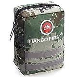 TIANBO FIRST 120-teiliges Erste-Hilfe-Set, taktischer Molle Tasche, EMT Erste Hilfe Tasche, Reflexstreifen, ideal für Camping, Überleben, Wandern und...