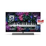 Philips Ambilight TV 48OLED935/12 OLED TV 48 Zoll - 121 cm mit Sound von Bowers & Wilkins (P5 Picture Engine mit KI, 4K UHD, Dolby Vision∙Atmos, Android TV,...