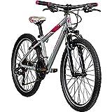 Galano Jugendrad 24 Zoll Mädchen Fahrrad Nova Mountainbike Hardtail 21 Gang 24' (grau/pink)